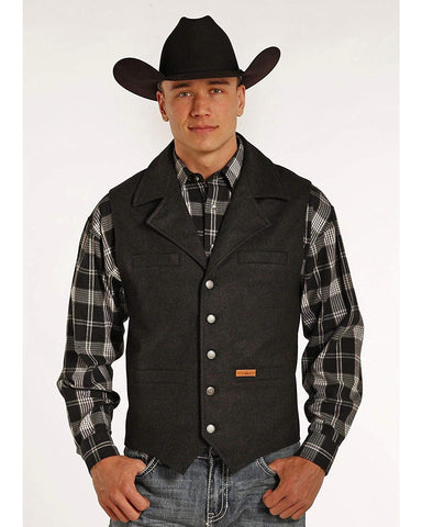 Men's Wool Montana Vest, Black