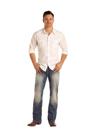 Men's Double Barrel Relaxed Straight Jeans, M0S3392 34x32