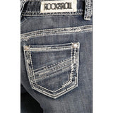 Rock & Roll Cowgirl Diagonal Denim Applique Jean (26x34) - W1-7366