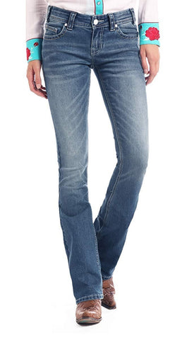 Rock and Roll Cowgirl Rival Extra Stretch Low-Rise Bootcut Jean - W6-1003