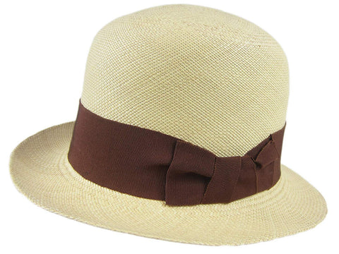 Sophie Natural Straw Hat Fedora Size Medium