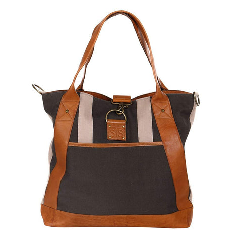 Sts Ranch Wear STS Ranchwear Grey Canvas Weekend Tote