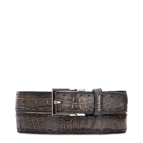 Cuadra Men's Alligator Woven Belt, Gray, 36