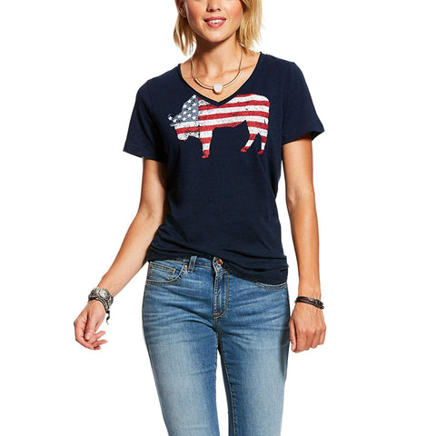 ARIAT Women's American Buffalo Tee