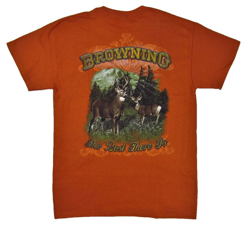 Browning Men's Buckmark Two Deer Tee Shirt - BRD1203.330