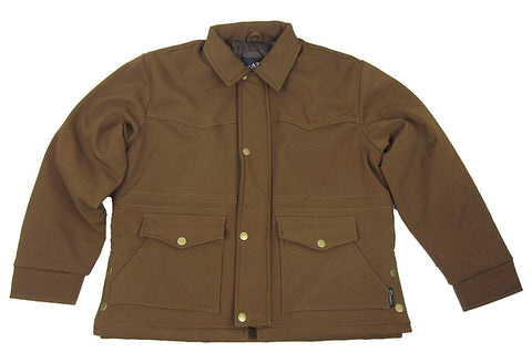 Carroll Original Wear Men's Soft Shell Jacket, Barn Style Brown COW5423
