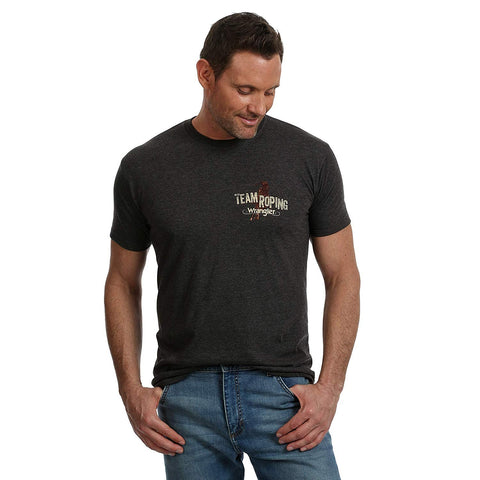 Wrangler Men's Western T-Shirt, MQ3100H, Charcoal Heather