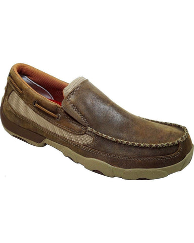 Twisted X Mens Slip-On Driving Mocs