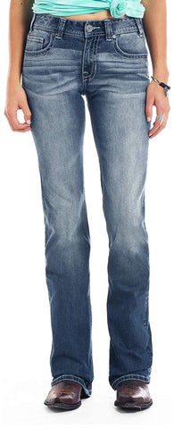 Rock & Roll Cowgirl Mid-Rise Bootcut Jean - W1-1032