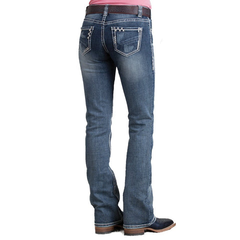 Rock & Roll Cowgirl Mid-Rise Rowdy Nights Jean