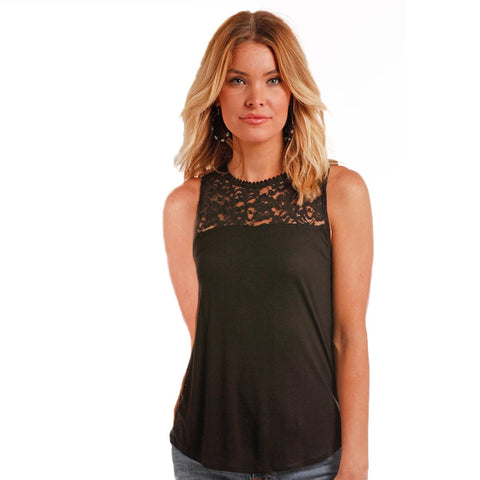 Panhandle Red Label Lace Yoke Tank