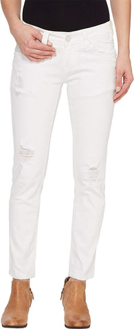 Rock and Roll Cowgirl Womens Low Rise Skinny in White W0C1402