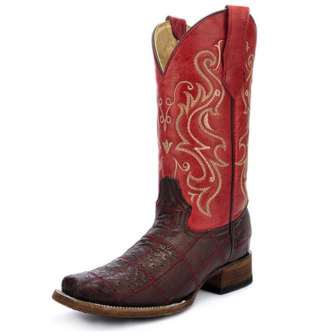 Circle G by Corral Women's Ostrich Patchwork Western Boot<br>L5225