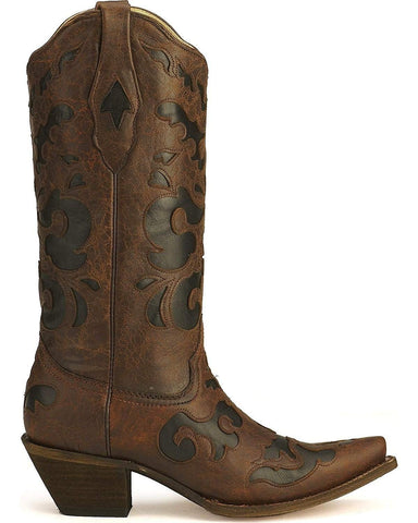 Women's Vintage Goat Inlay Fashion Boots - C1957