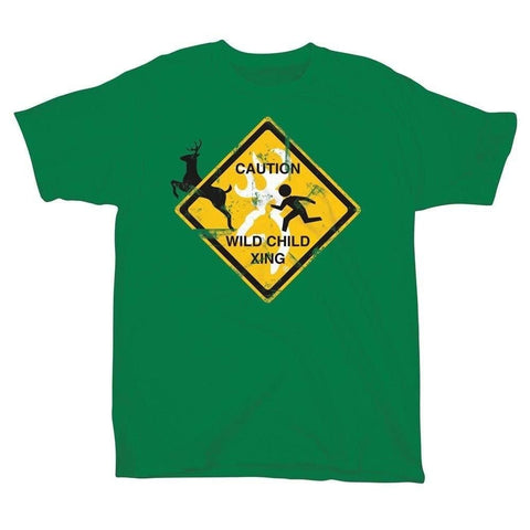 Browning Youth Wild Child Xing Tee Boys Girls Green Short Sleeve T-Shirt