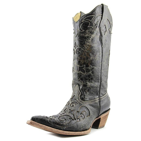 Corral Women's Lizard Inlay Western Cowgirl Boot Pointed Toe