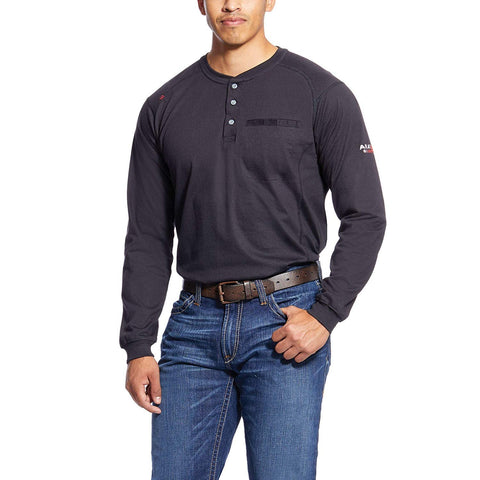 ARIAT Men's Flame Resistant Air Long Sleevehenley Shirt