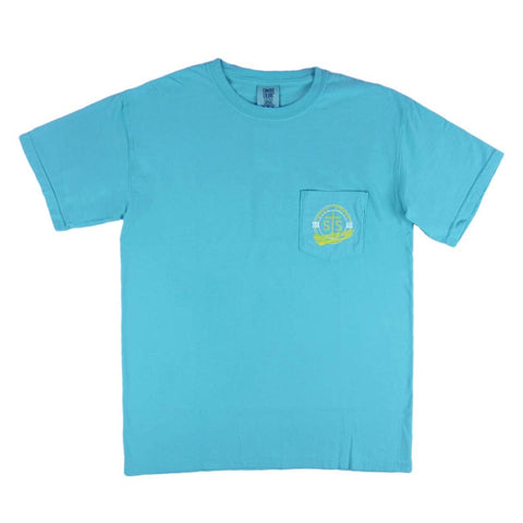 STS Ranchwear Men's Lagoon Blue Tee STS6030LB