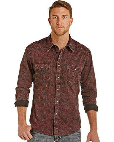 Rock and Roll Cowboy Men's and Paisley Print Shirt - B2S3127