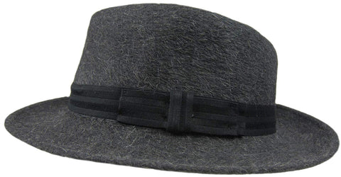 "Dobbs Rampart Charcoal Grey Fedora - 7 1/8 R Oval 2"" Brim"
