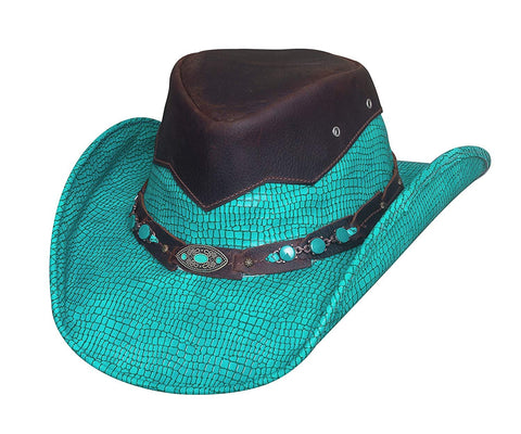 Bullhide Hats Jealous Turquoise Leather Hat