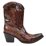 Corral Women's Python Snip Toe Short Boots - C2799