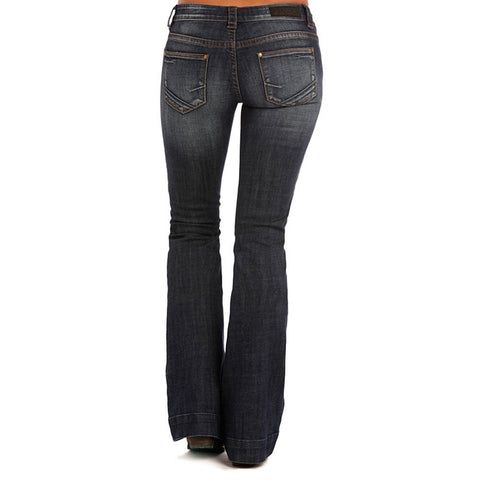 Rock and Roll Cowgirl Womens Rival Straight Leg In Dark Vintage W61381S