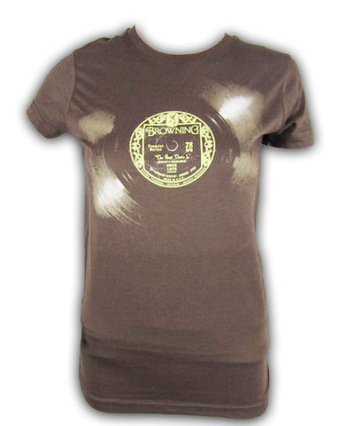 Browning Womens 78 RPM Buckmark Fitted T-Shirt Chocolate Brown