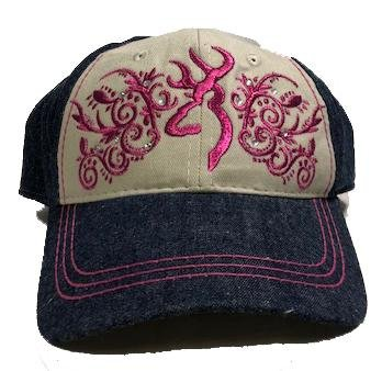 Browning Buckmark Diamond Fuschia Ball Cap - 308562871