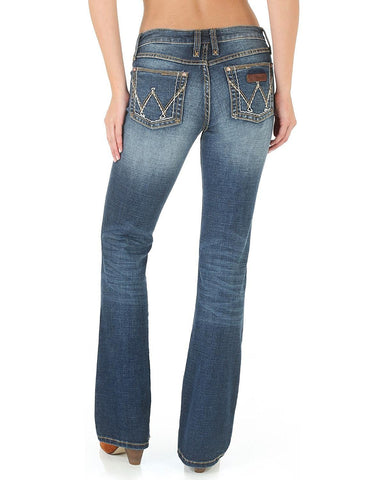 Wrangler Women's Mae Western Retro Bottoms Boot Cut Jeans - 09MWZMS