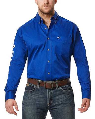 Ariat Ultramarine Team Logo Long Sleeve Twill Shirt - 1007498