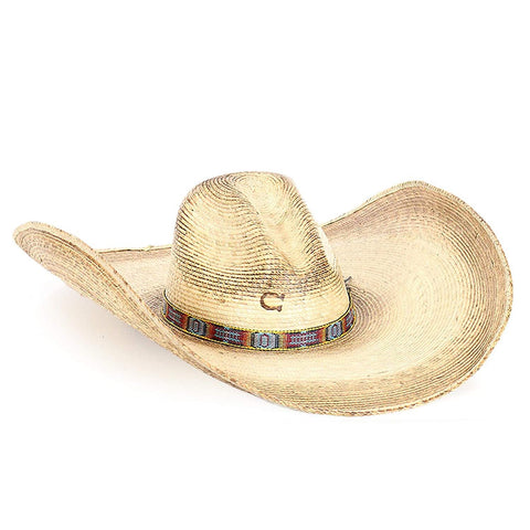 Charlie 1 Horse Women's Coyote with Aztec Band Sombrero Hat -  CSCYOT-9570