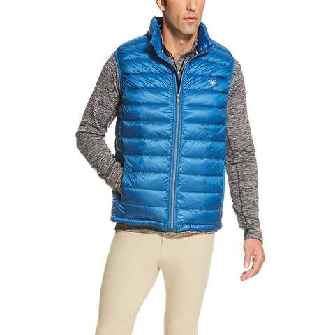 Ariat Mens Ideal Down Vest, Rush of Blue, Large 10020513