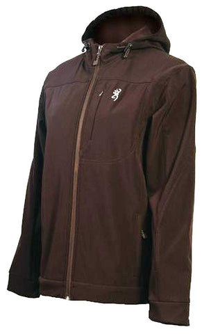 Browning Women's Buckmark Hooded Fairweather Softshell Jacket Chocolate Brown