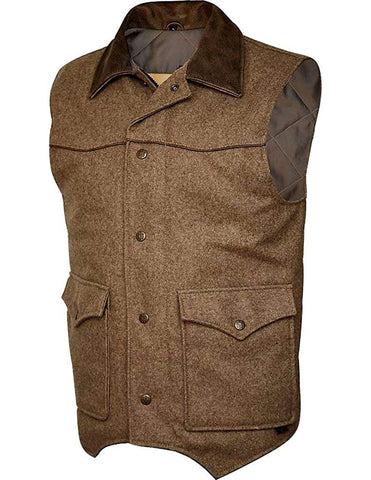 STS Ranchwear Western Vest Mens Wool Lariat Button Up Bomber STS3542