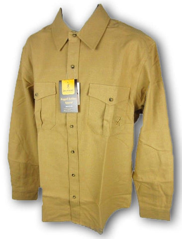 Browning Men's Dillon Button Down Heavyweight Shirt, Large