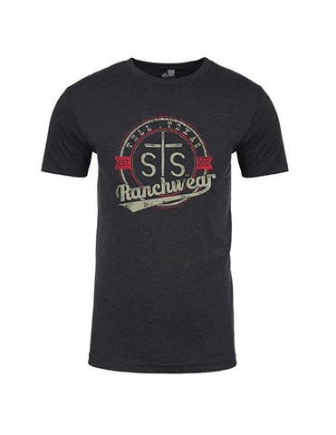 STS Ranchwear Vintage Tee Charcoal STS6210CH