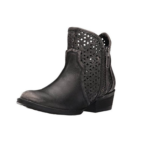 Circle G by Corral Women's Cut-Out Round Toe Short Boot<br>Q0001
