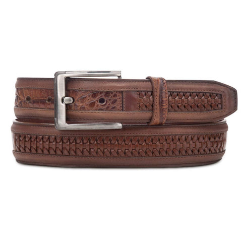 Cuadra Caiman Crocodile Fuscus Belly Exotic Western Leather Belt - BC095