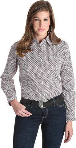 George Strait for Her Button Down Print Top