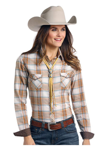 Panhandle Ladies Long Sleeve Two Pocket Button Down Shirt - R4S7591