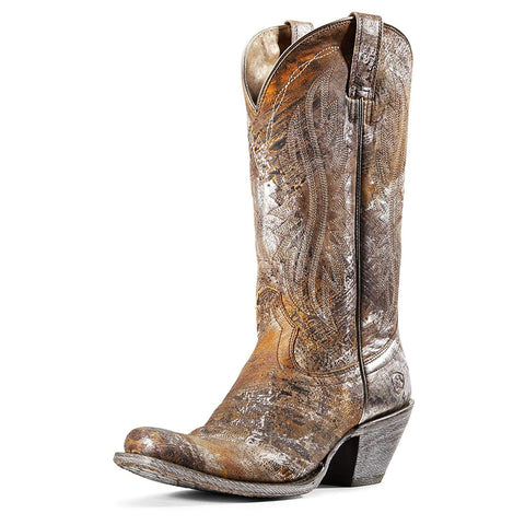 ARIAT Women's Circuit Salem Western Boot, Brushed Silver