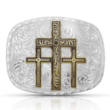 Montana Silversmiths Two-Tone Triple Cross Buckle