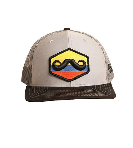 Rock and Roll Cowboy Leroy Gibbons Mustache Snapback Cap, Grey