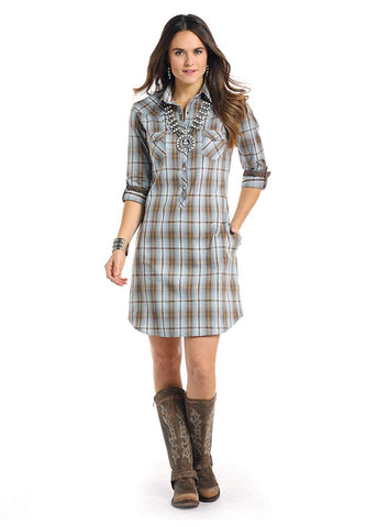 Rough Stock by Panhandle Courtland Vintage Plaid Dress - R4O7589