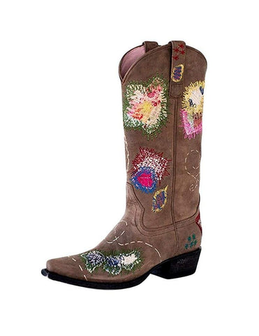 Miss Macie Western Boots Womens Holding It Together Brown U6027-01