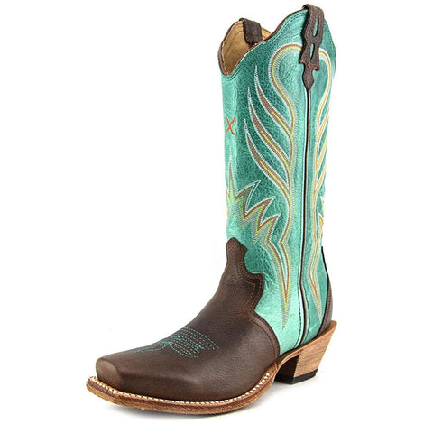 Twisted X Women's Turquoise Steppin' Out Cowgirl Boot Square Toe - Wso0015