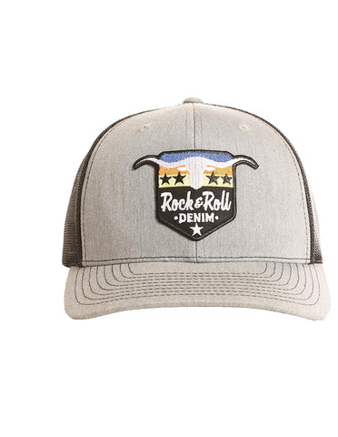 Rock and Roll Denim Cap, Steer and Star, Adjustable
