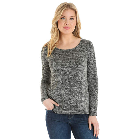 Wrangler Long Sleeve Fashion Top, Black