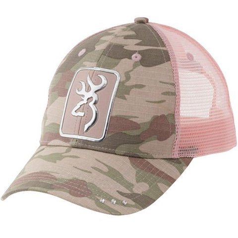 Browning 308161411 Digby Cap Camo/Light Pink